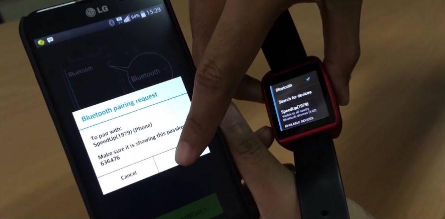 Use of Speedup Smartwatch